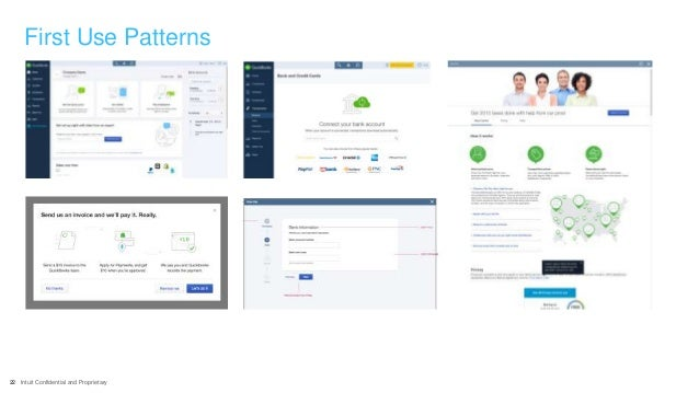 22 Intuit Confidential and Proprietary First Use Patterns