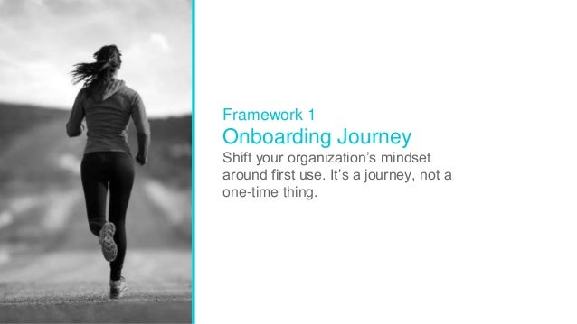 27 Intuit Confidential and Proprietary Framework 1 Onboarding Journey Shift your organization's mindset around first use. ...