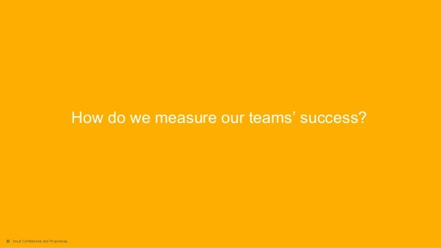 36 Intuit Confidential and Proprietary How do we measure our teams' success?