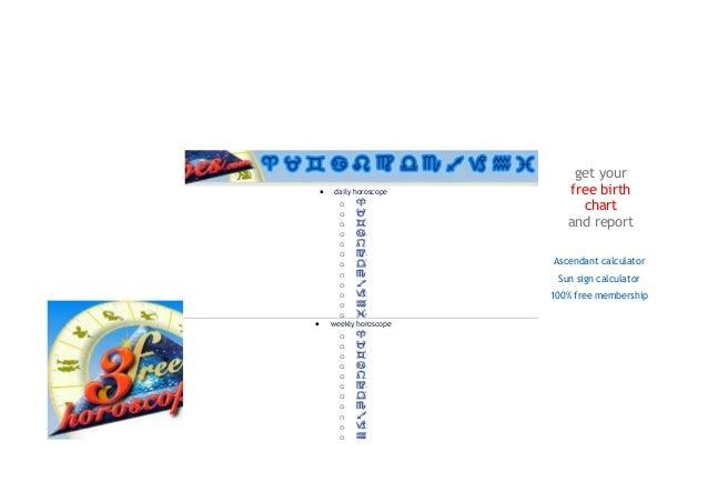 Free Horo Chart Timiznceptzmusic