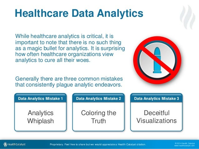 Data Analytics Mistake 3  Visualizations  © 2014 Health Catalyst  www.healthcatalyst.com  Healthcare Data Analytics  While...