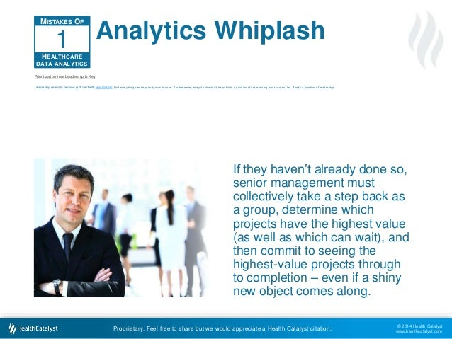 © 2014 Health Catalyst  www.healthcatalyst.com  Analytics Whiplash  Proprietary. Feel free to share but we would appreciat...