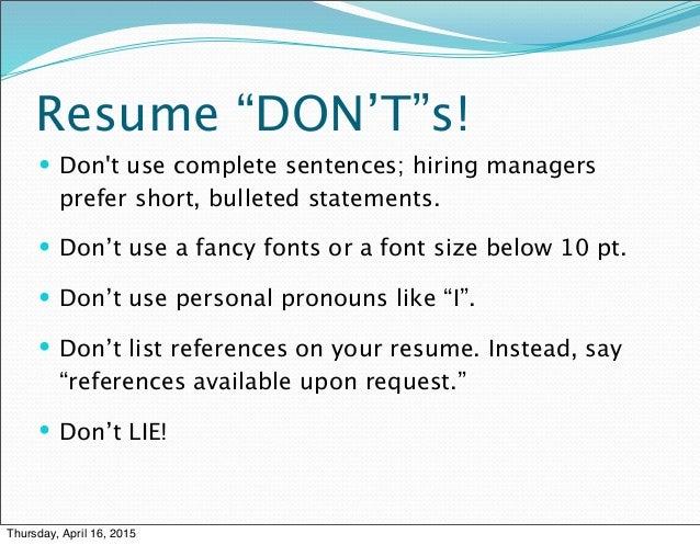 Resume U201c ... Intended Resume Text Size