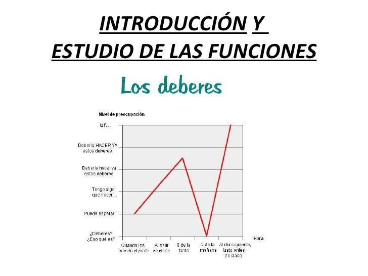 INTRODUCCIÓN  Y  ESTUDIO DE LAS FUNCIONES