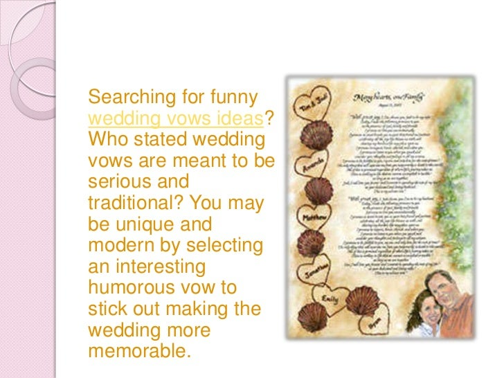 3 funny wedding vows ideas 3 funny wedding vows ideas 2 junglespirit Image collections
