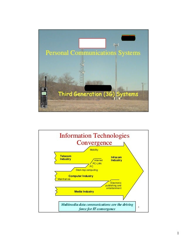 UT D                CS6V81    Personal Communications Systems                 Lecture 7       Third Generation (3G) System...
