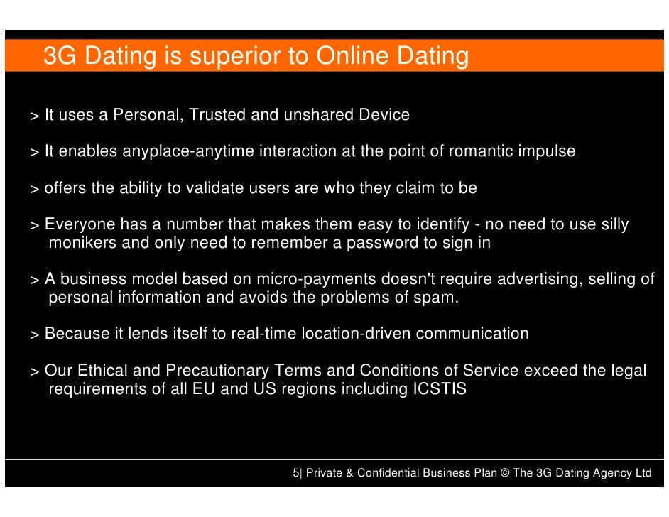 Internet dating business plan