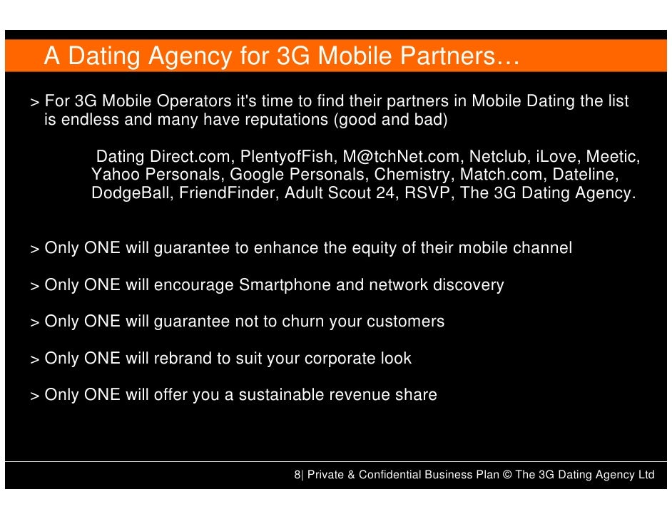 Matchmaking service business plan