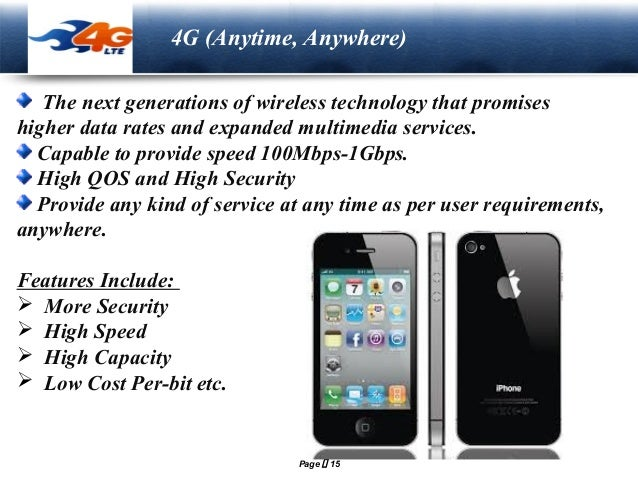 Presentation on 1G/2G/3G/4G/5G/Cellular & Wireless Technologies