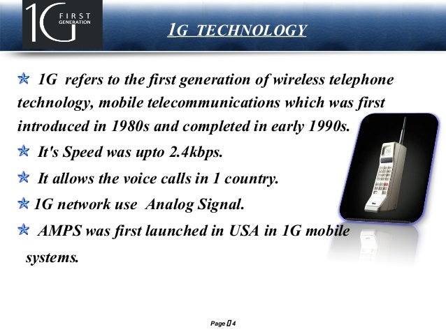 Presentation On 1g 2g 3g 4g 5g Cellular Amp Wireless