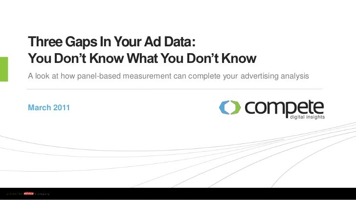 Three Gaps In Your Ad Data: You Don't Know What You Don't Know<br />A look at how panel-based measurement can complete you...