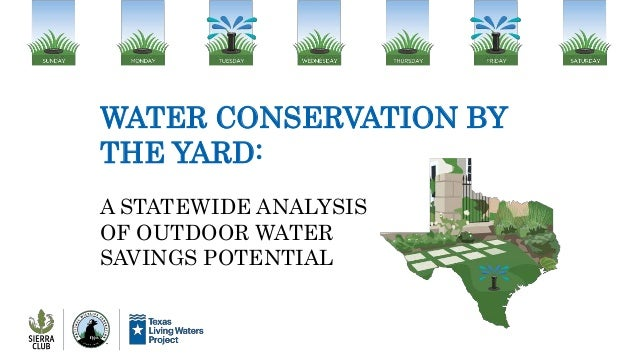 WATER CONSERVATION BY THE YARD: A STATEWIDE ANALYSIS OF OUTDOOR WATER SAVINGS POTENTIAL