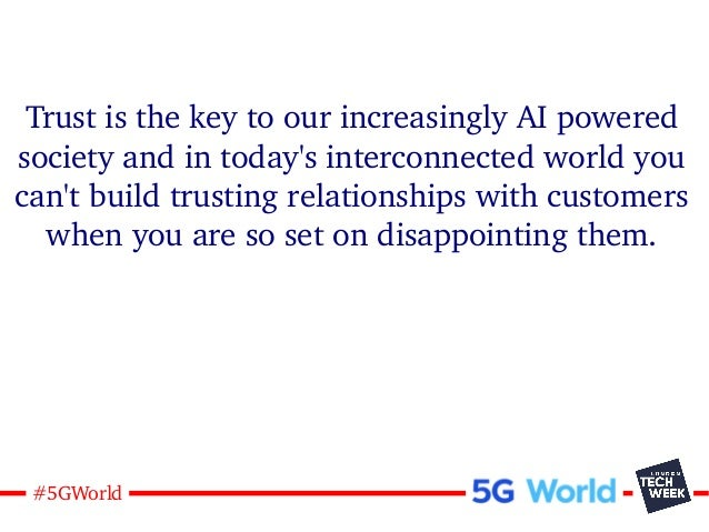 19#5GWorld Trust is the key to our increasingly AI powered society and in today's interconnected world you can't build tru...