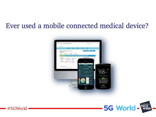 8#5GWorld Ever used a mobile connected medical device?