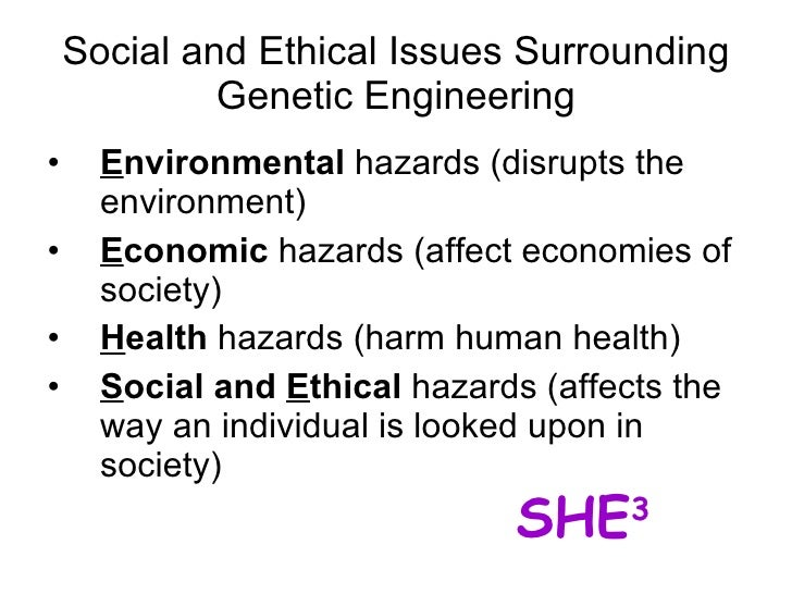 benefits and problems of genetic engineering This specialized branch of genetic engineering, which is known as human genetic engineering is the science of modifying genotypes of human beings before birth the process can be used to manipulate certain traits in an individual.