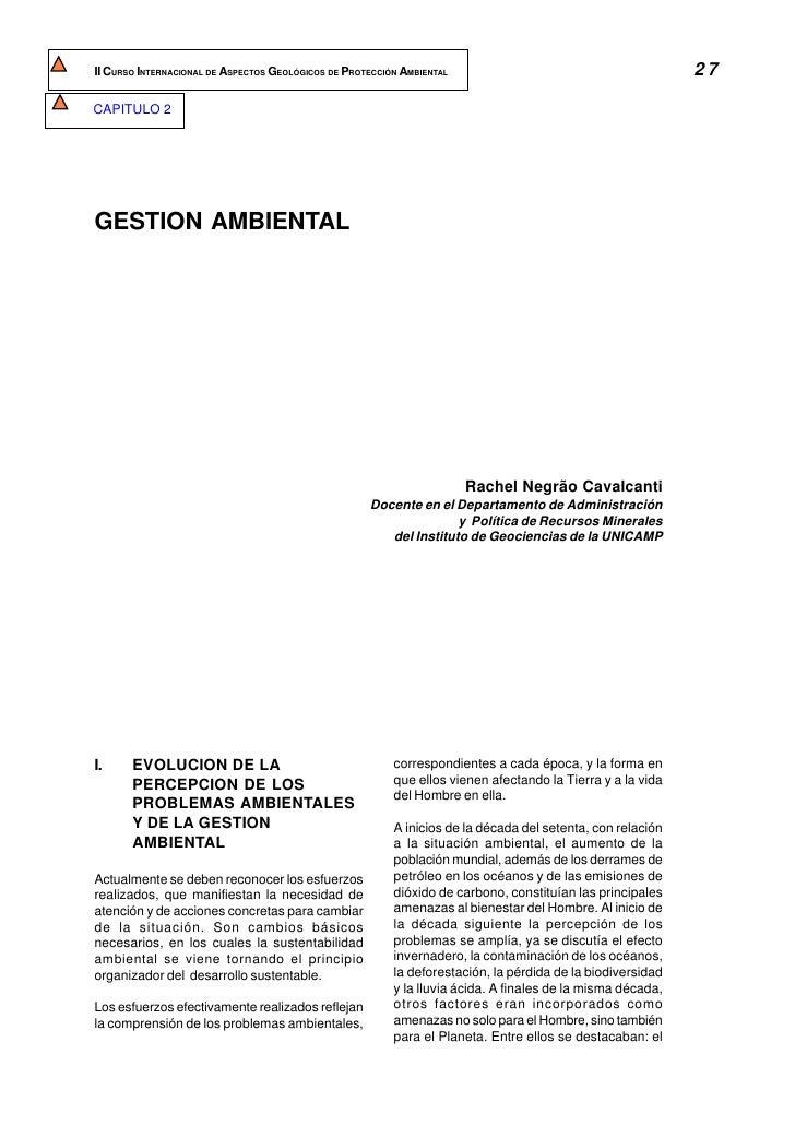 II CURSO INTERNACIONAL DE ASPECTOS GEOLÓGICOS DE PROTECCIÓN AMBIENTAL                                        27  CAPITULO ...