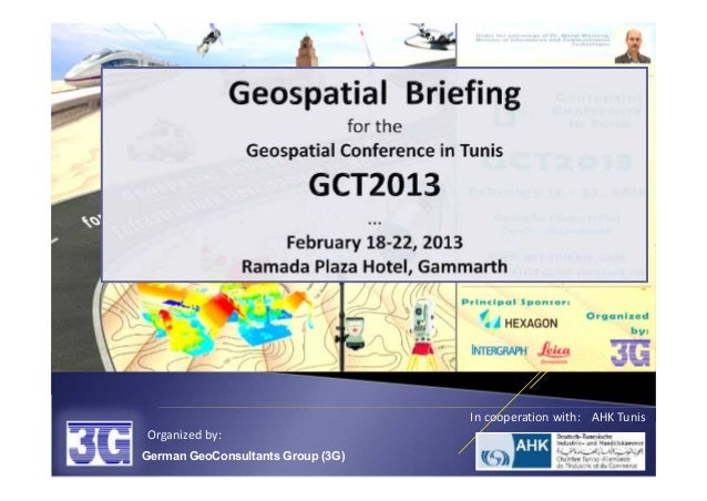 In cooperation with: AHK TunisOrganized by:German GeoConsultants Group (3G)
