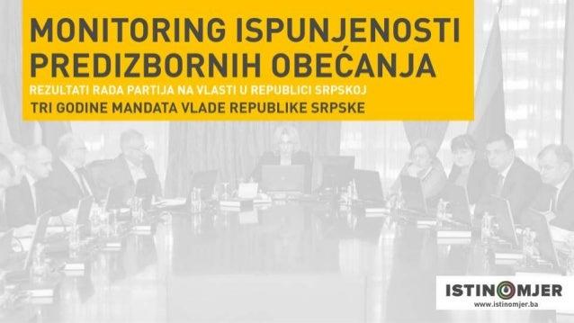 Monitoring rada Vlade RS (3 godina mandata 2014. - 2018.)