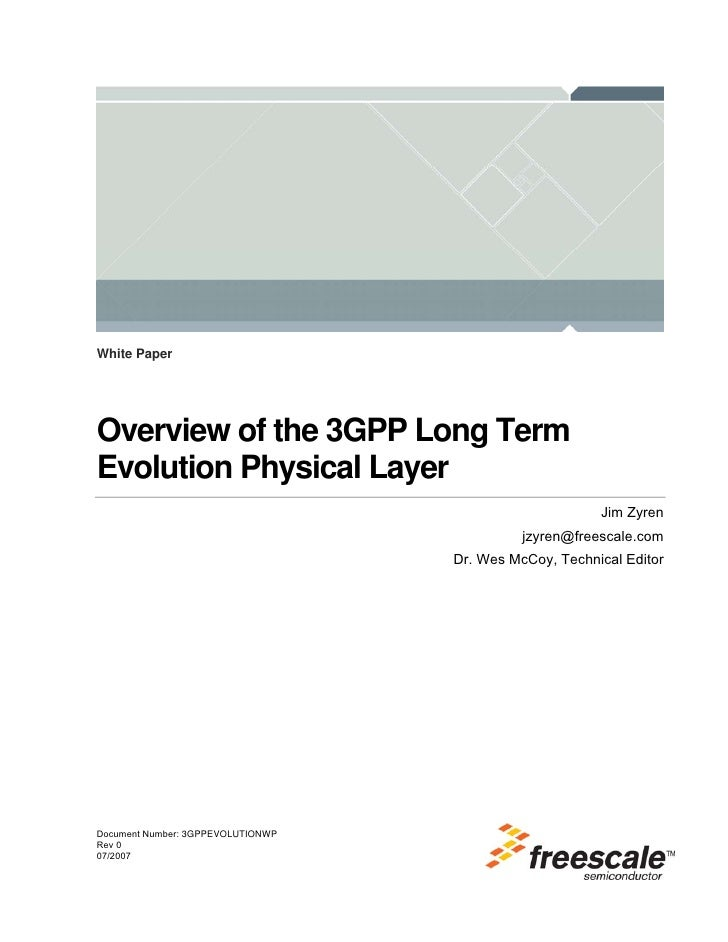 White PaperOverview of the 3GPP Long TermEvolution Physical Layer                                                        J...