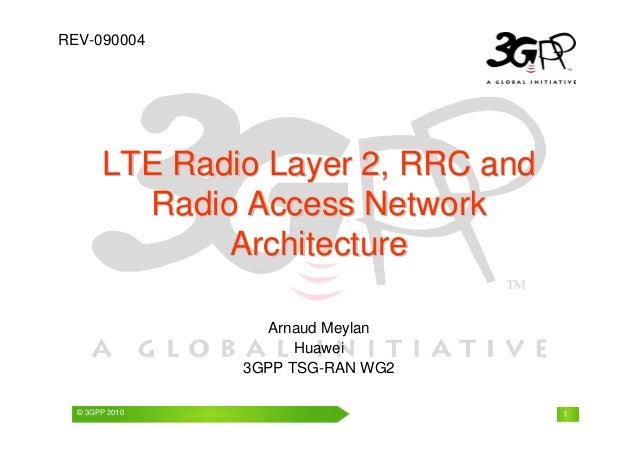 REV-090004  LTE Radiio Layer 2,, RRC and  Radiio Access Nettwork  Archiittectture  Arnaud Meylan  Huawei  3GPP TSG-RAN WG2...