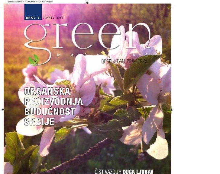 green 3:Layout 1 4/30/2011 11:04 AM Page 1                BROJ 3          APRIL 2011                                      ...