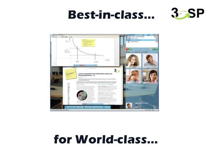 for World-class… Best-in-class…