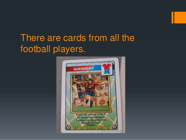 There are cards from all thefootball players.