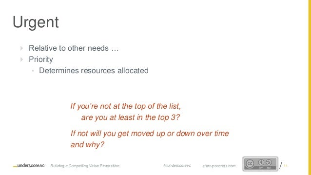 Proprietary and Confidential  Relative to other needs …  Priority • Determines resources allocated If you're not at the ...