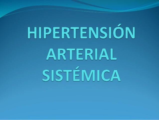 3 hipertension arterial sistémica