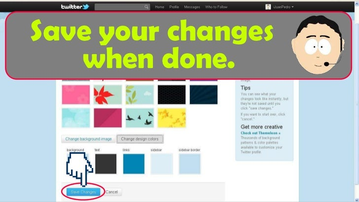 how to change your twitter ui