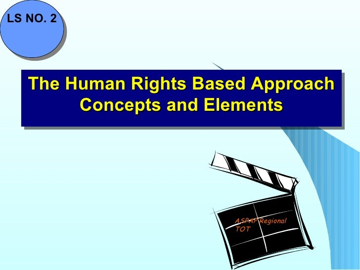 The Human Rights Based Approach Concepts and Elements ASPAP Regional TOT LS NO. 2