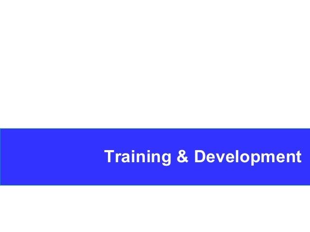 1 Training & Development