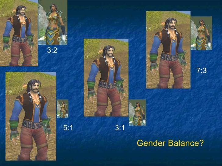 3:2 7:3 5:1 Gender Balance? 3:1