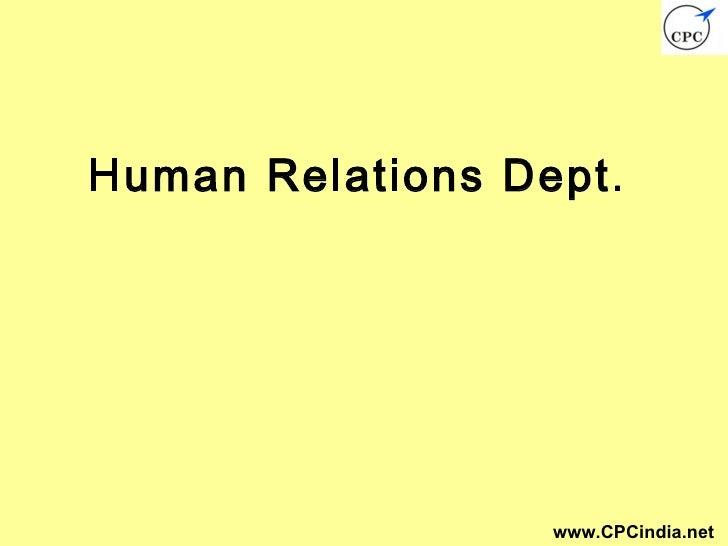 Human Relations Dept.