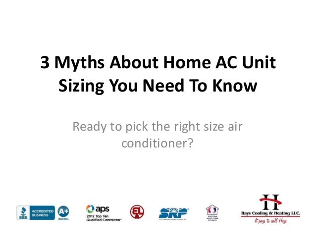 3 myths about choosing the right size ac unit for your home. Black Bedroom Furniture Sets. Home Design Ideas
