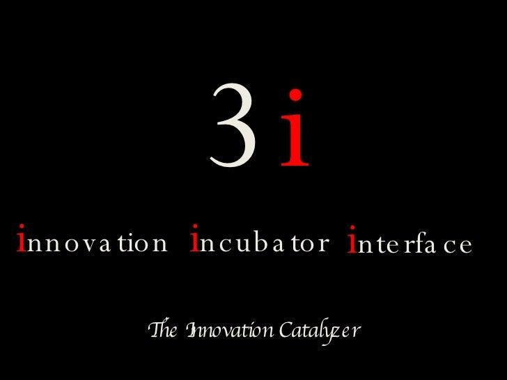 3i innova tion incuba tor interfa c e          TI          he nnovation Catalyzer