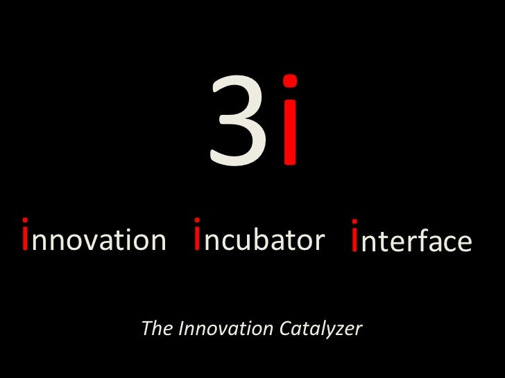 3 i i nnovation i ncubator i nterface The Innovation Catalyzer