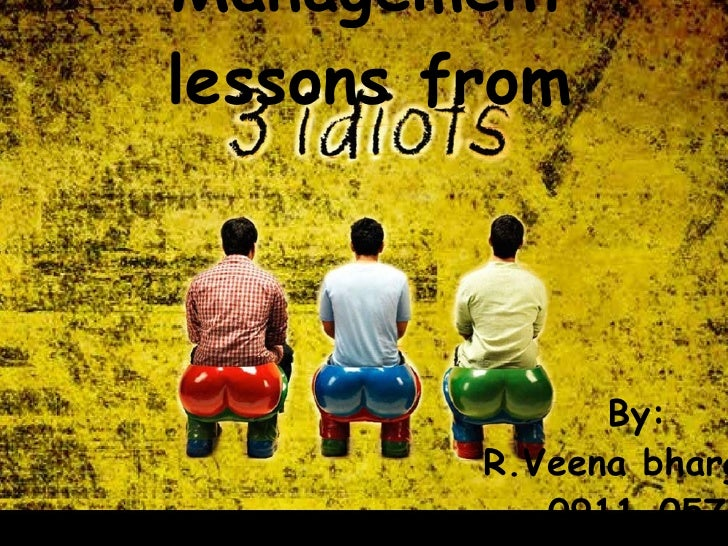 Management lessons from By: R.Veena bhargavi 0911-057
