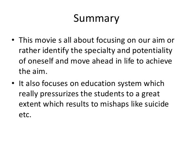 essay about 3 idiots movie review