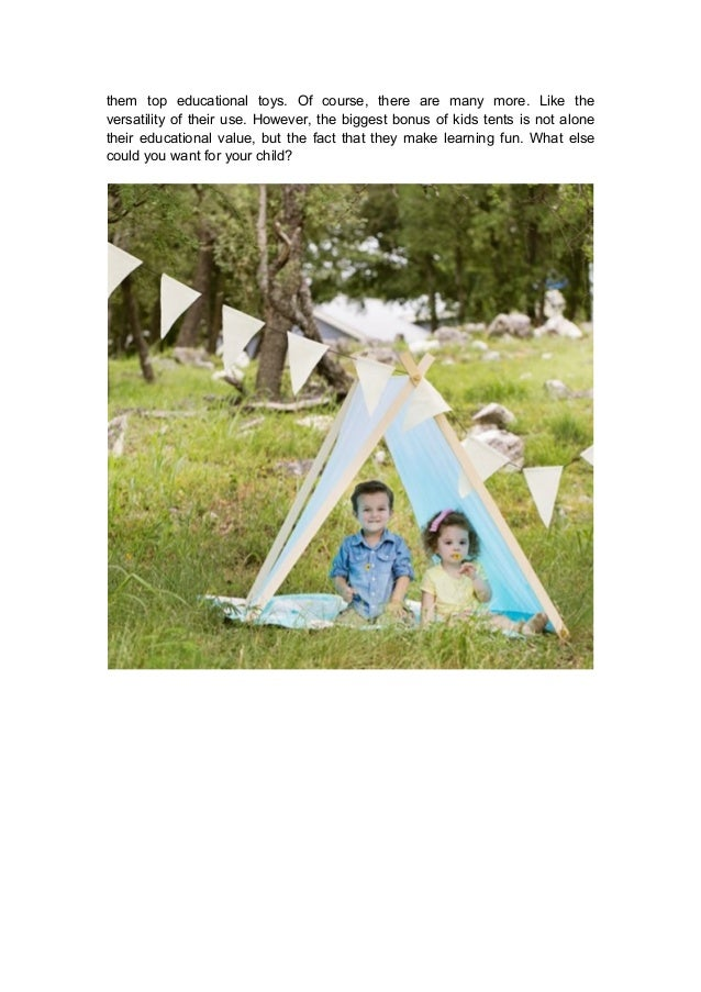 ... make; 4. them ...  sc 1 st  SlideShare & 3 important things a play tent can teach your kids whilst making learu2026