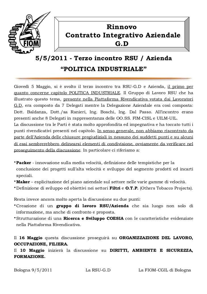Rinnovo                          Contratto Integrativo Aziendale                                       G.D           5/5/2...