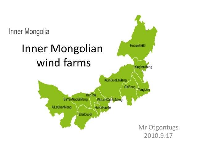 Inner Mongolian wind farms Mr Otgontugs 2010.9.17