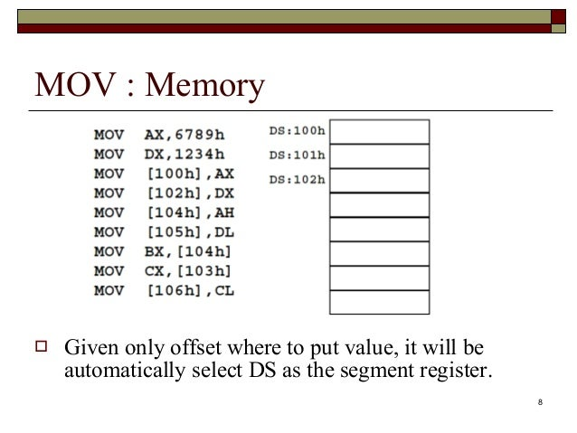 gate x86 and accumulator The x86 architecture has 8 general-purpose registers (gpr), 6 segment  registers, 1 flags register and an instruction pointer 64-bit x86 has  for  example, 'eax' is the accumulator register as a 32-bit value  see: the a20  gate saga.