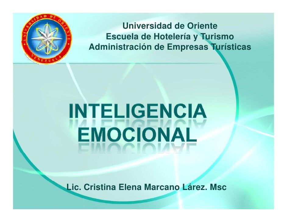 Universidad de Oriente         Escuela de Hotelería y Turismo      Administración de Empresas Turísticas     Lic. Cristina...