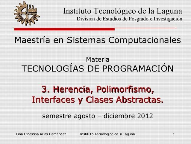 Lina Ernestina Arias Hernández Instituto Tecnológico de la Laguna 1Maestría en Sistemas ComputacionalesMateriaTECNOLOGÍAS ...