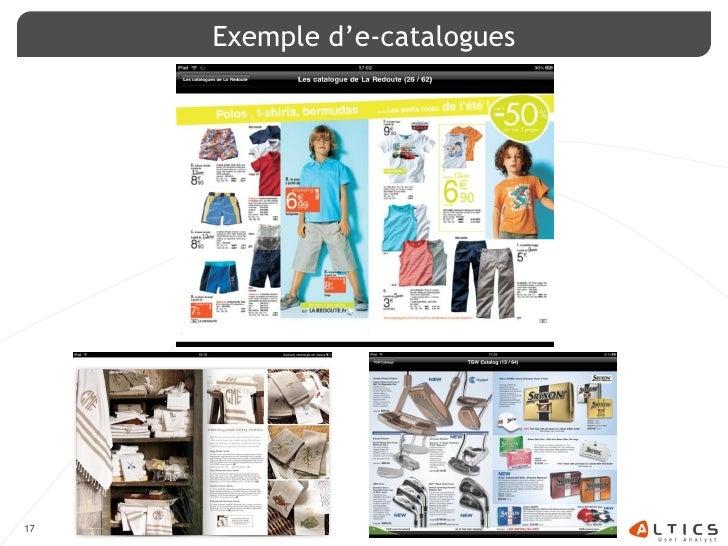 Exemple d'e-catalogues     17