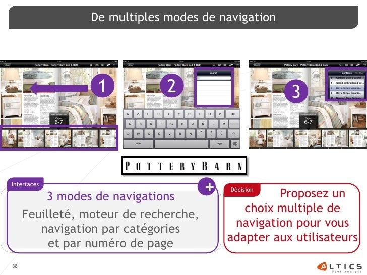 De multiples modes de navigation                       1           2                       3    Interfaces           3 mod...