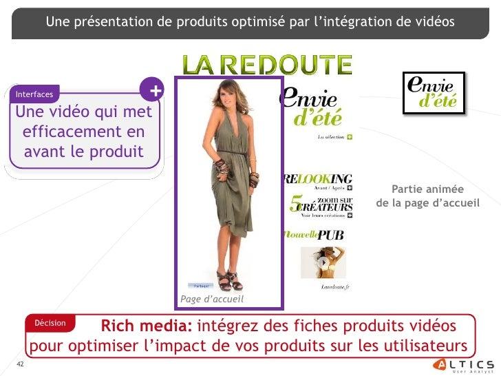 Une présentation de produits optimisé par l'intégration de vidéos     Interfaces              + Une vidéo qui met  efficac...