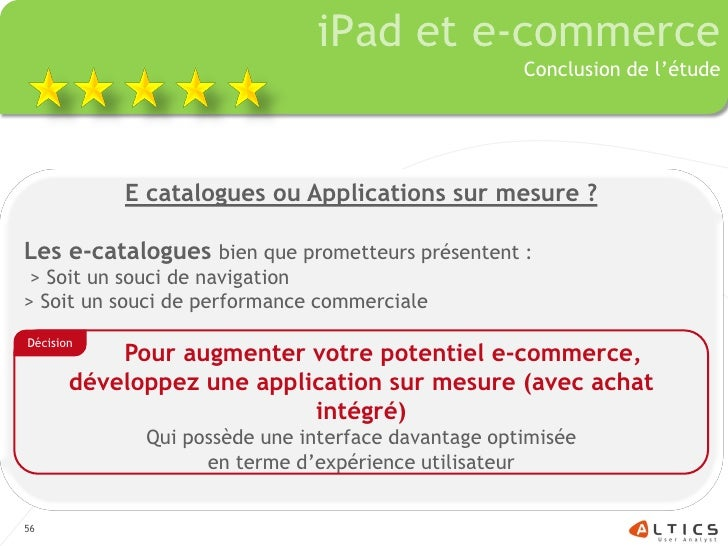 iPad et e-commerce                                                     Conclusion de l'étude                E catalogues o...