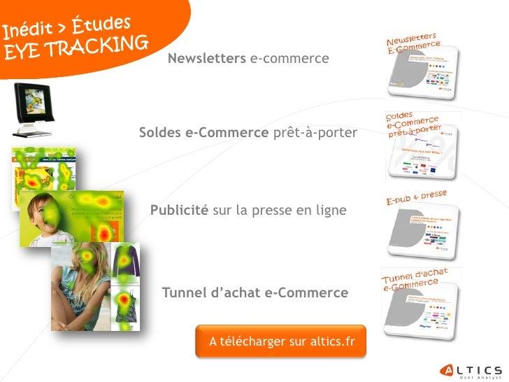 Newsletters e-commerce     Soldes e-Commerce prêt-à-porter      Publicité sur la presse en ligne        Tunnel d'achat e-C...